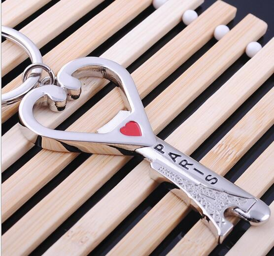 wholesale heart and eiffel tower shape metal keychain mm. Black Bedroom Furniture Sets. Home Design Ideas