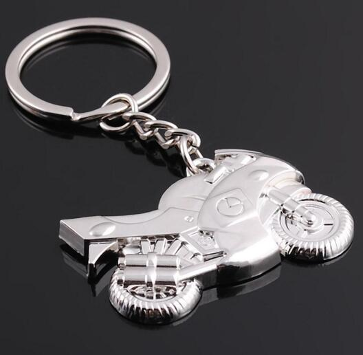 Personalize motorcycle shape metal keychain for gift