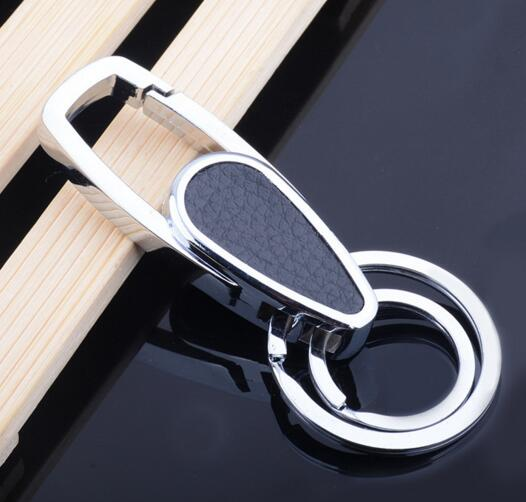 Promotional with carabiner function leather keychain