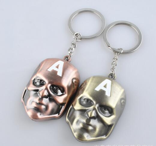 Brown color mask shape keychain