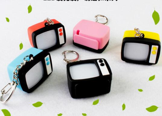 promotional camera shape with sound and voice led keychain