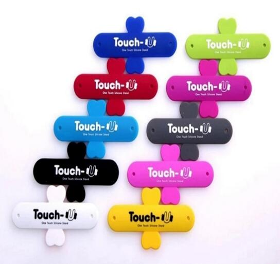 Promotional cheap silicone Slap Phone Holder phone Stand Touch U mobile phone stand