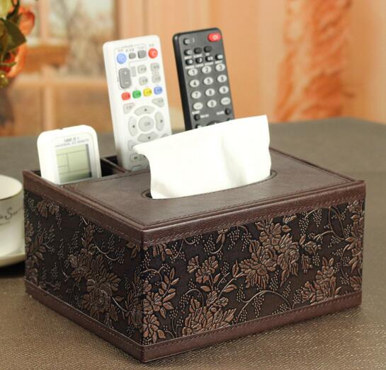 High quality tv controller and tissue storage box and desktop organizer