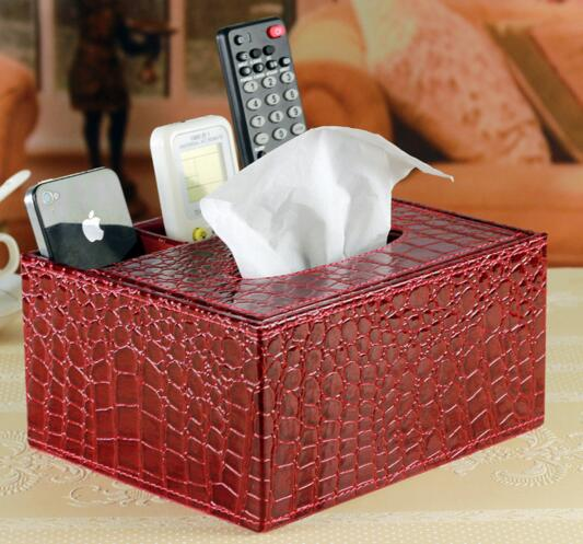 High quality red color tv controller and tissue box