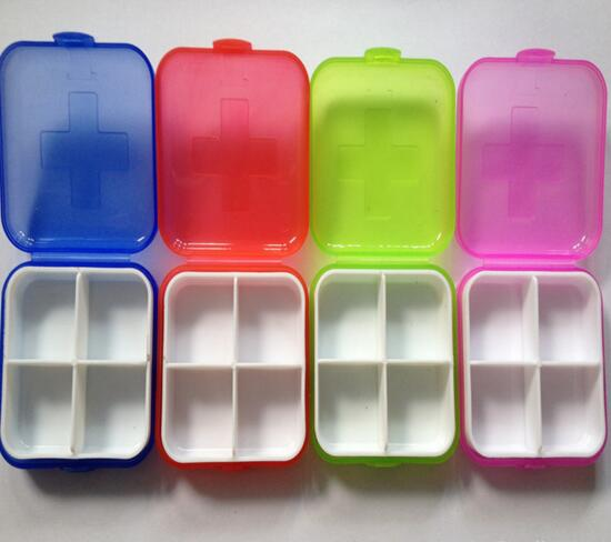 Promotional portabale 4 days capsule pill organizer