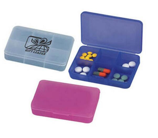 Promotional high quality 6 days pill box or pill organizer
