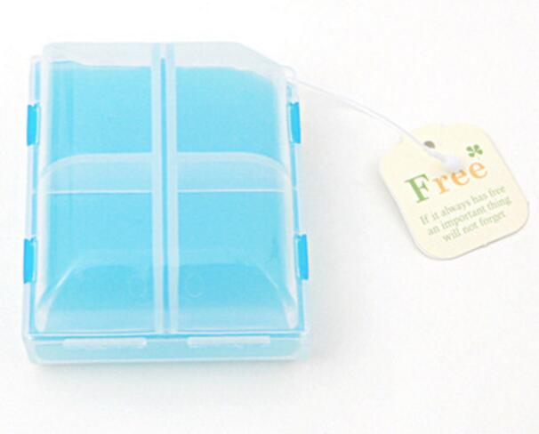 Promotional double level 4 compartments pill box or pill organizer