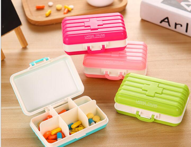 Promotional luggage shape 6 days pill box or 6 days pill organizer
