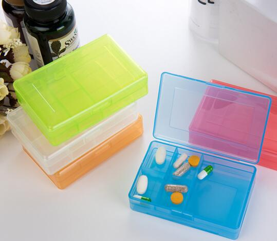 Promotional plastic transparent weekly pill box or weekly pill organizer