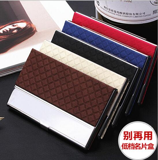 New style fashion style coffee color pu name card holder