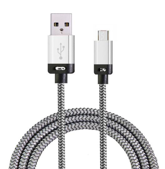 Promotional silver color 2 in 1 usb cable for office gift