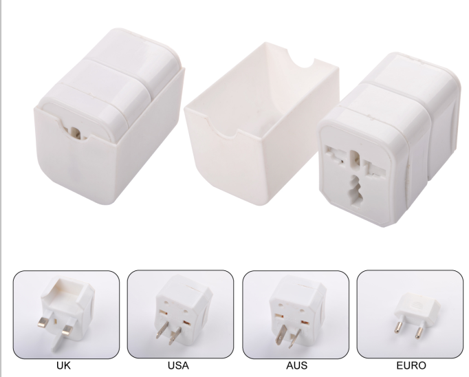 Promotional cheap style customize logo travel adaptor
