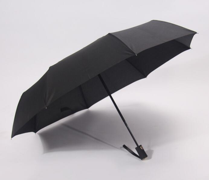 Wholesale oem logo black color 3 folding auto folding umbrella
