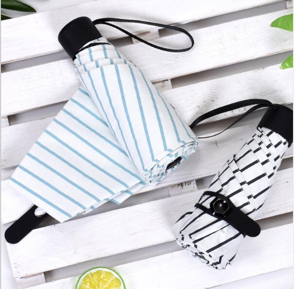Fashional with line design 5 folding light weight mini umbrella