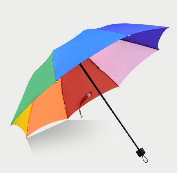 Customize logo or  design 3 folding umbrella for business gift